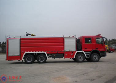 Huge Capacity Fire Fighting Truck Mercedes Chassis With Pressure Combustion Engine